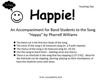 """Happie! - An Easy Accompaniment to the Song """"Happy"""" - BUNDLE"""