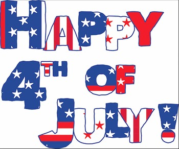 Happy 4th of July! Digital Sign & Fireworks Patriotic Clip