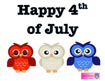 Happy 4th of July - FREEBIE