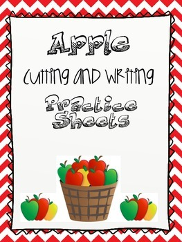 Happy Apple Cutting and Writing Practice Sheets