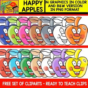 Happy Apples - FREE Cliparts Set