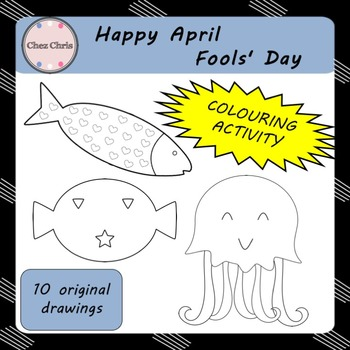 Happy April Fools' Day ! - Colouring Activity