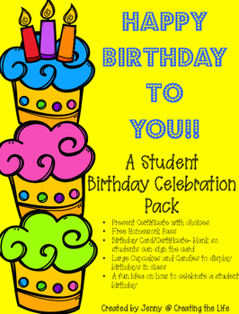 Happy Birthday A Student Celebration Kit