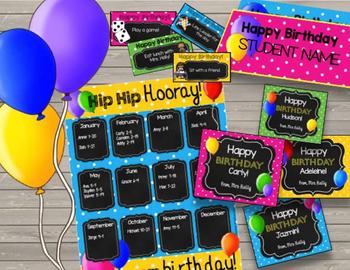Happy Birthday {BUNDLE} Printable Cards - Tickets - Crowns