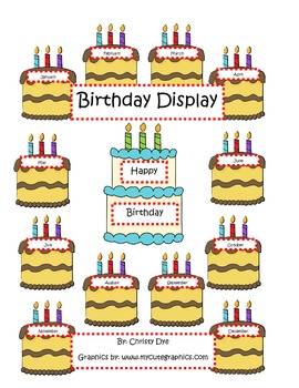 Happy Birthday Bulletin Board Set FREEBIE OF THE WEEK