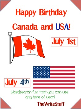 Happy Birthday Canada and USA- Friendship Activities for Anytime