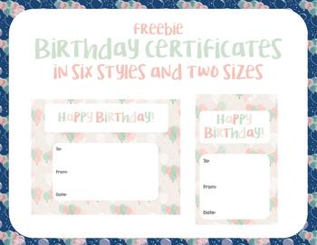 Happy Birthday Card - 6 styles in 2 sizes!