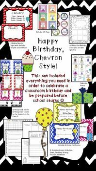 Happy Birthday, Chevron Style- Everything Needed to Celebr