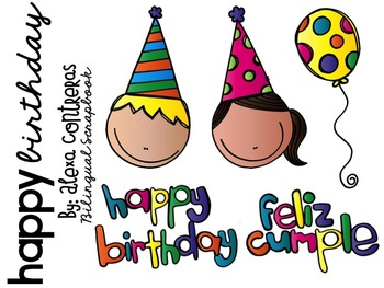 Happy Birthday Clip Art FREEBIE