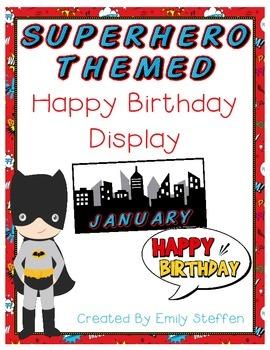 Happy Birthday Display - Superhero Themed