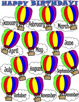 Happy Birthday Hot Air Balloons
