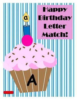 Happy Birthday Letter Match!