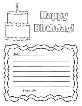 Happy Birthday Letter Template for Students