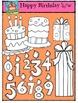 Happy Birthday Party {P4 Clips Trioriginals Digital Clip Art}