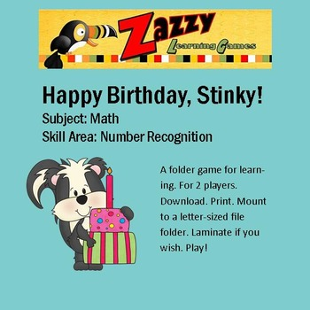 Happy Birthday, Stinky! Folder Game Math Numbers and Months