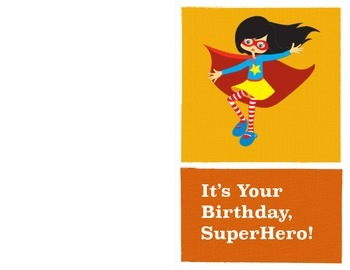 Happy Birthday Super Hero - Girl