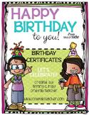 Happy Birthday To You!! Let's Celebrate Editable Certificates