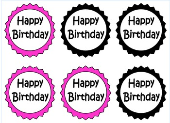 Happy Birthday tags for pencils