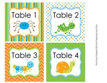 Happy Bugs Classroom Decor Table Numbers