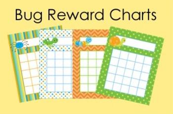 Happy Bugs Incentive Reward Charts - 4 Designs