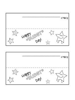 """Happy """"Burst"""" Day!"""