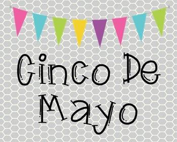 Cinco De Mayo Poster, Class Decor, Holiday Sign, Bulletin Board
