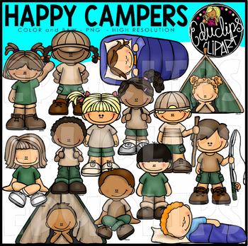 Happy Campers Clip Art Bundle {Educlips Clipart}