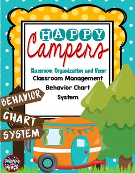 Camping Classroom Theme  Behavior Chart System **editable**