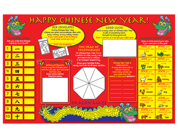 Happy Chinese New Year! Activity Mat