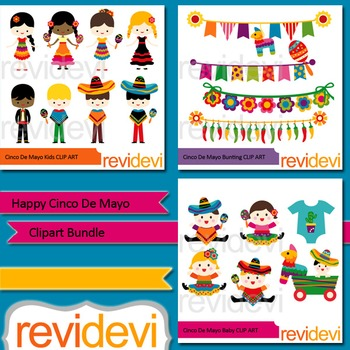 Happy Cinco De Mayo Clipart Bundle (3 packs)