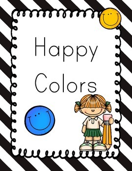 Happy Colors Smiles and Color Name posters