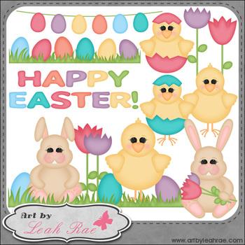 Happy Easter 1 - Art by Leah Rae Clip Art & Line Art / Dig
