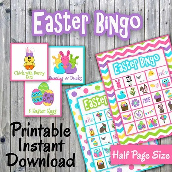 Happy Easter Bingo Cards and Memory Game - Printable - Up