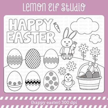Happy Easter-Digital Stamp (LES.DS23)
