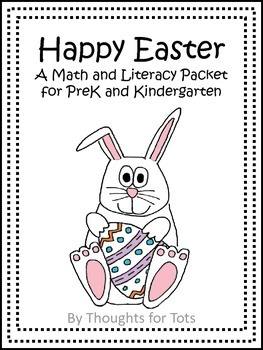 Happy Easter FREE VERSION, Math and Literacy Packet for Pr