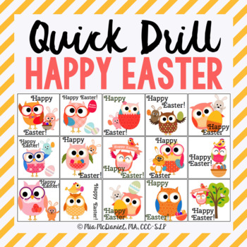 Happy Easter Quick Drill {for articulation or fluency ther
