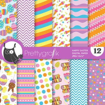 Happy Easter digital paper, commercial use, scrapbook pape