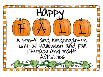 Happy Fall: Halloween and Fall Centers for Pre-K and K