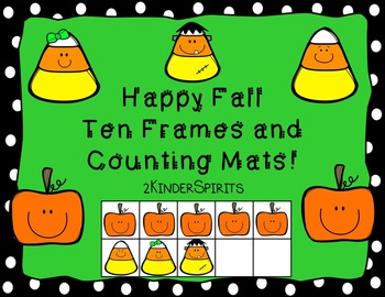 Happy Fall Ten Frames and Counting Mats