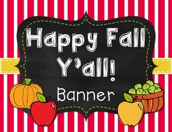 Happy Fall Y'all! Fall Banner