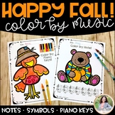 Music Coloring Sheets: Happy Fall, Y'all!