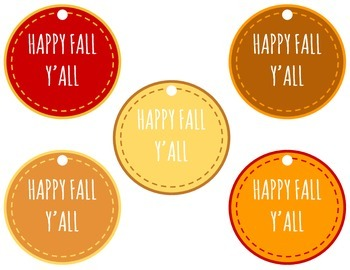 Happy Fall Y'all Printables