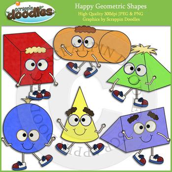 Happy Geometric Shapes