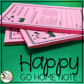 Happy Go Home Note