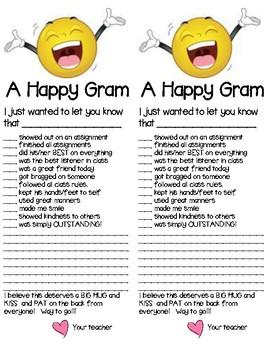 Happy Gram Parent Communicators