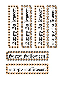 """Happy Halloween"" Bookmark"