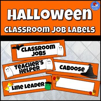 Happy Halloween Classroom Job Labels