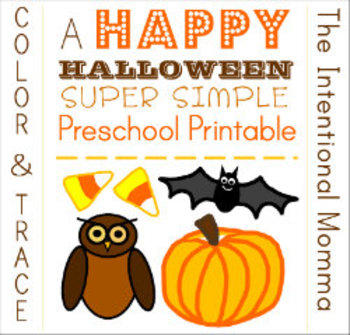 Happy Halloween Color and Trace