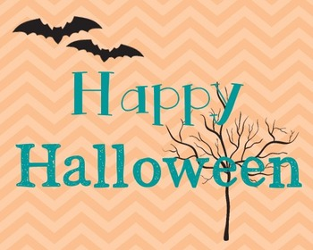 Happy Halloween Poster, Class Decor, Holiday Sign, Bulletin Board