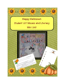 Happy Halloween Student Created Mosaic Poster